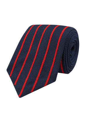 Jupe By Jackie Navy and Red Embroidered Silk Fairfax Tie