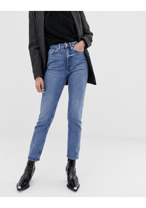 Weekday high waist slim straight leg case jeans