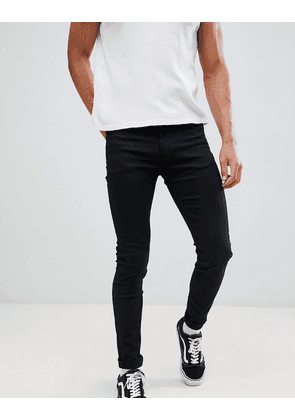 Weekday Form super skinny jeans stay black