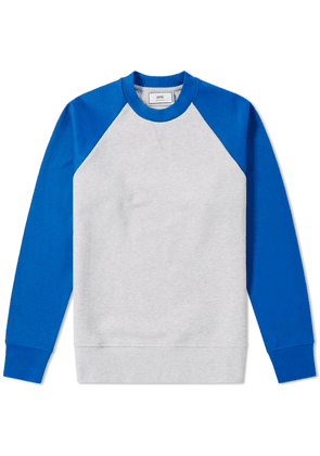 AMI Contrast Crew Sweat Royal Blue
