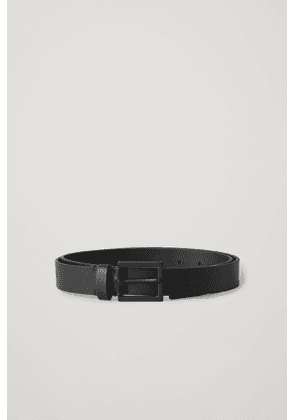 LEATHER BELT WITH MATTE BUCKLE