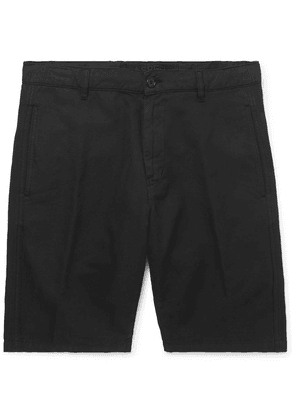Aspesi - Cotton And Linen-blend Twill Shorts - Black