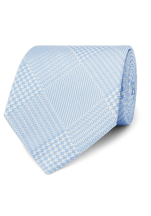 Emma Willis - 9cm Prince Of Wales Checked Silk-twill Tie - Blue