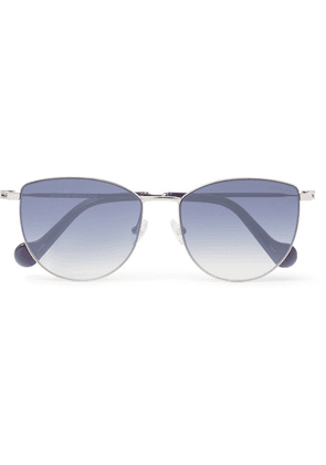 Moncler - Round-frame Acetate And Silver-tone Sunglasses - Blue