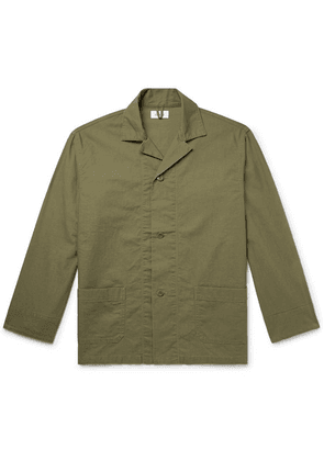 Chimala - Camp-collar Cotton Shirt Jacket - Army green