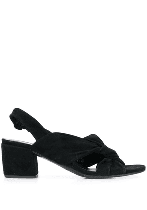 Del Carlo knotted front sandals - Black