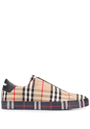 Burberry vintage check slip-on sneakers - Neutrals