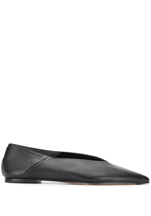 Aeyde pointed toe ballerina shoes - Black