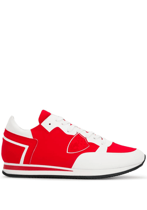 Philippe Model contrast panel sneakers - Red