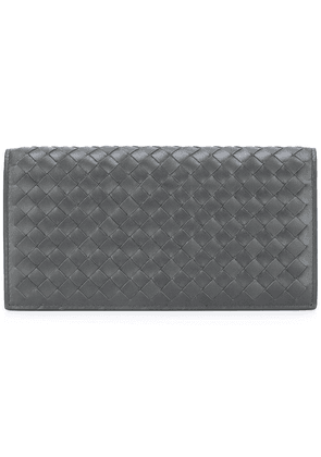 Bottega Veneta intrecciato weave continental wallet - Brown
