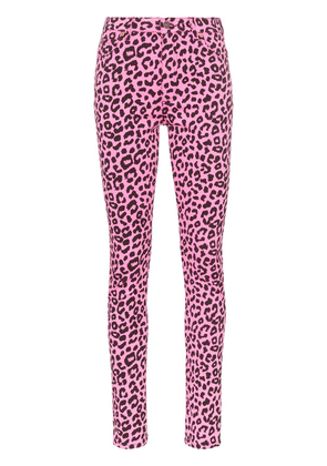 Gucci leopard print high-waisted skinny jeans - Pink