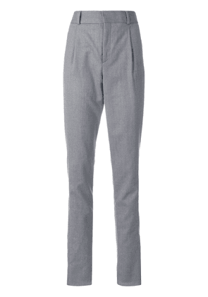 Saint Laurent straight-leg tailored trousers - Grey