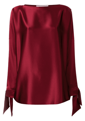 Gianluca Capannolo tie cuff blouse - Red