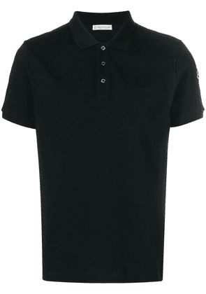 Moncler classic fitted polo top - Black