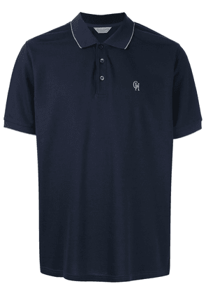 Gieves & Hawkes logo embroidered polo shirt - Blue