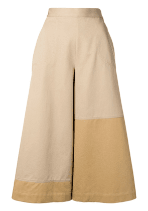Loewe wide leg cropped trousers - Neutrals