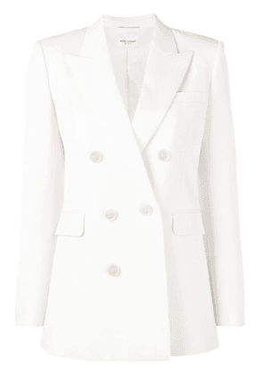 Saint Laurent double breasted blazer - White