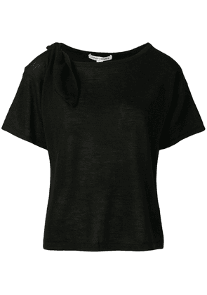 Autumn Cashmere cut-out cashmere T-shirt - Black