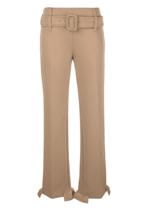 Prada technical jersey trousers - Brown