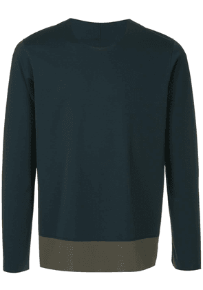 Attachment two-tone sweatshirt - Blue