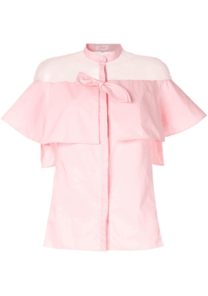 Delpozo sheer shirt - Pink