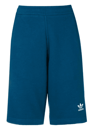 Adidas 3 stripe track shorts - Blue