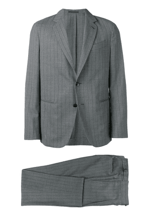 Caruso striped two-piece suit - Grey