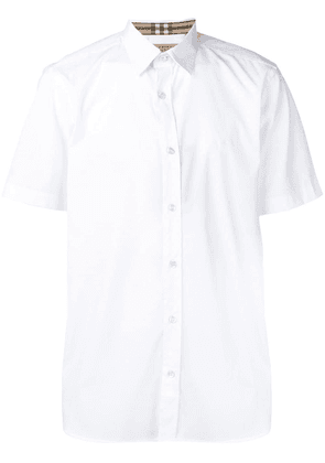 Burberry logo embroidered shirt - White