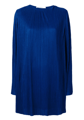 Givenchy pleated longsleeved dress - Blue