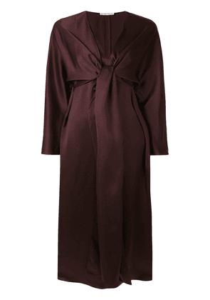 The Row Clementine knot detail dress - Brown