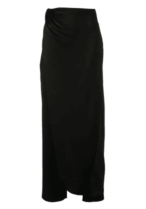 Baja East draped skirt trousers - Black