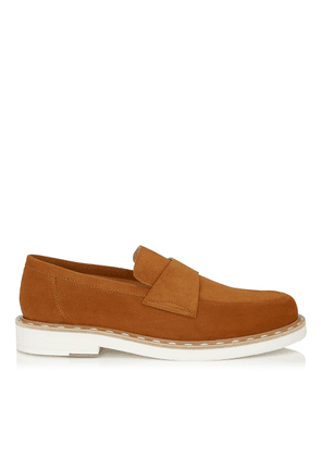 BANE Tan Dry Suede Casual Loafer with Stitched Welt Detailing