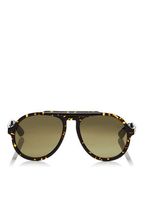RON Brown Gold Mirror Aviator Sunglasses with Havana Violet