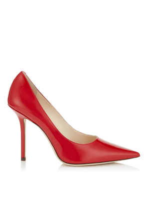 LOVE 100 Red Patent Leather Pointy Toe Pumps