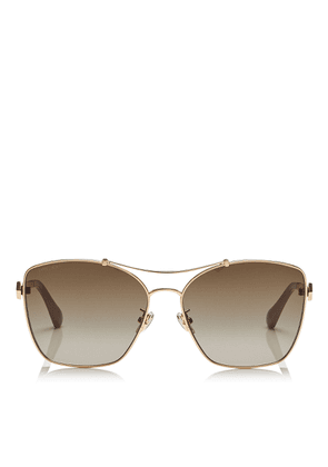KIMI Brown Shaded Oversized Sunglasses in Red, Gold, Nude and White