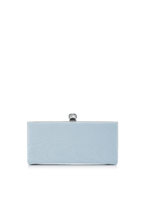 CELESTE/S Something Blue Moire Fabric Clutch Bag with Cube Clasp