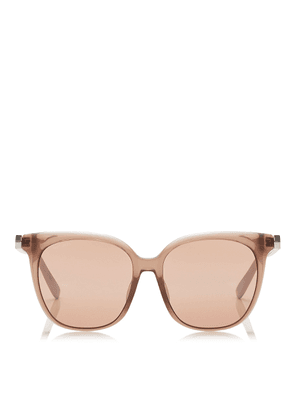WILMA Pink Flash Silver Square Sunglasses with Nude Frame