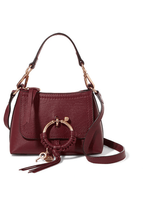 See By Chloé - Joan Mini Textured-leather Shoulder Bag - Burgundy
