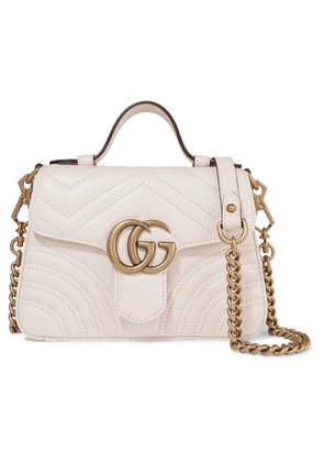 Gucci - Gg Marmont Mini Quilted Leather Shoulder Bag - White