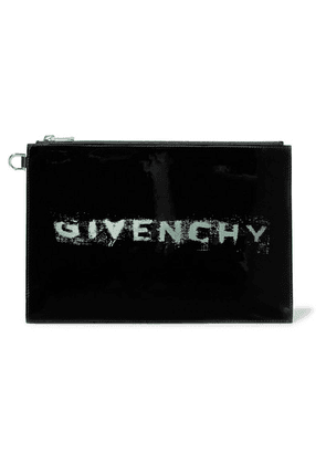 Givenchy - Printed Patent-leather Pouch - Black