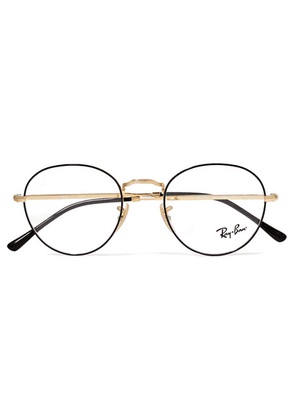 Ray-Ban - Round-frame Acetate And Gold-tone Optical Glasses - Black
