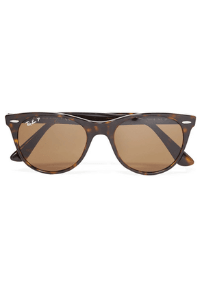 Ray-Ban - The Wayfarer Ii Round-frame Tortoiseshell Acetate Sunglasses - Black