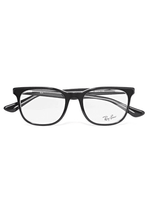 Ray-Ban - Square-frame Acetate Optical Glasses - Black
