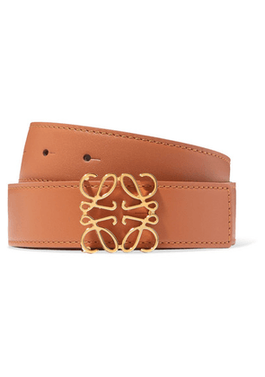 Loewe - Embellished Leather Belt - Tan