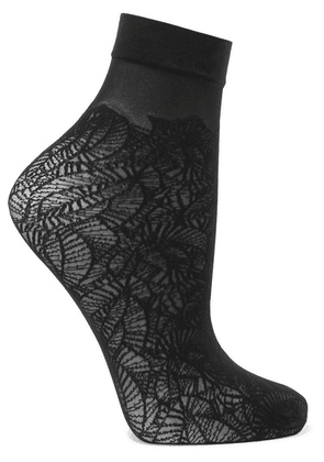 Falke - Flora Stretch-knit Socks - Black