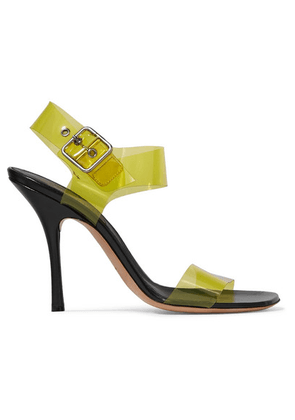Dries Van Noten - Pvc And Leather Sandals - Yellow