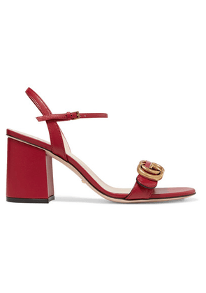 Gucci - Marmont Logo-embellished Leather Sandals - Red