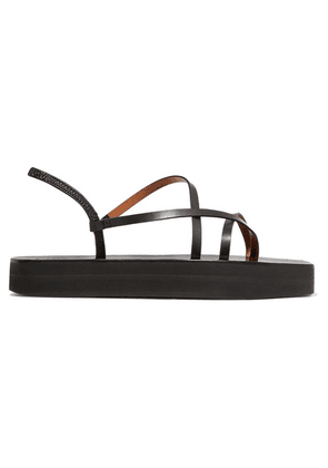 ATP Atelier - Maremma Leather Platform Sandals - Black