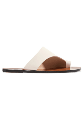 ATP Atelier - Rosa Cutout Leather Sandals - White