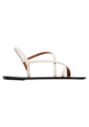 ATP Atelier - Lizza Leather Sandals - White